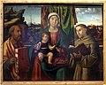 Antonio solario detto zingaro, madonna col bambino tra i ss. pietro e francesco, 1514 ca. (ve) 01.JPG