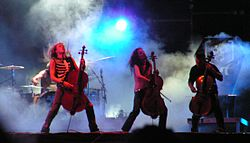 Apocalyptica in concerto al Wacken Open Air nel 2005