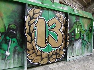 Apostolos Nikolaidis Stadium - A graffiti of Gate 13