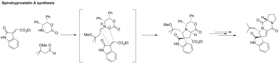 Application of azomethine ylide in the synthesis of spirotryprostatin.tif