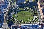 Aquincum katonai (katonavárosi) amfiteátruma - légi felvételen.jpg
