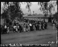 Arcadia, Califonria. Evacuees of Japanese ancestry line up for lunch at the Santa Anita Assembly center. - NARA - 537452.tif