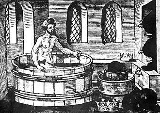 Eureka effect - A 16th century woodcut of Archimedes' eureka moment
