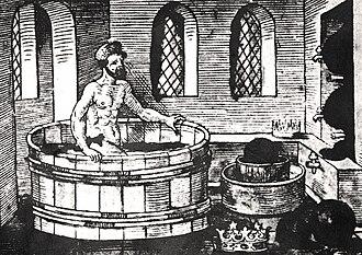 Displacement (ship) - Image: Archimedes bath