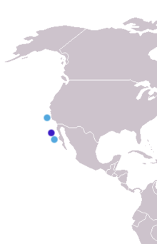 alt=Description de l'image Arctocephalus townsendi distribution.png.