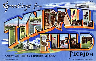 Tyndall Air Force Base - World War II Postcard