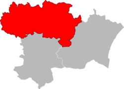 Location of the arrondissement in Aude
