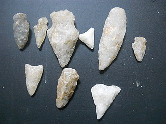 Arrowhead - Some arrowheads made of quartz
