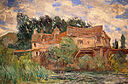 Art at the New Orleans Museum of Art - Houses on the Old Bridge at Vernon circa 1883 by Monet.jpg