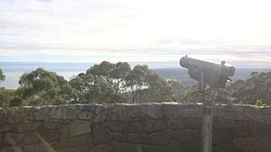 Arthurs Seat, Victoria - View from the summit lookout of Arthurs Seat, Victoria, Australia. 2014.