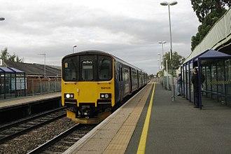 Ashchurch for Tewkesbury railway station - A southbound Great Western Railway service