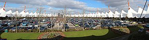 Ashford, Kent - Ashford Designer Outlet was designed by the Richard Rogers Partnership and attracts around 3 million customers a year
