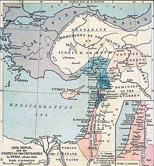 The fall of Edessa, seen here on the right of this map (c.1140), was the proximate cause of the Second Crusade.