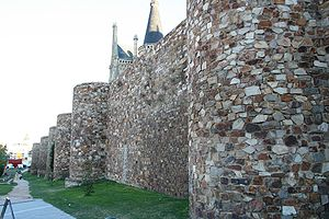 Stone walls of the city of Astorga