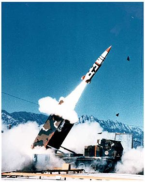 Tactical ballistic missile - The MGM-140 ATACMS tactical ballistic missile firing