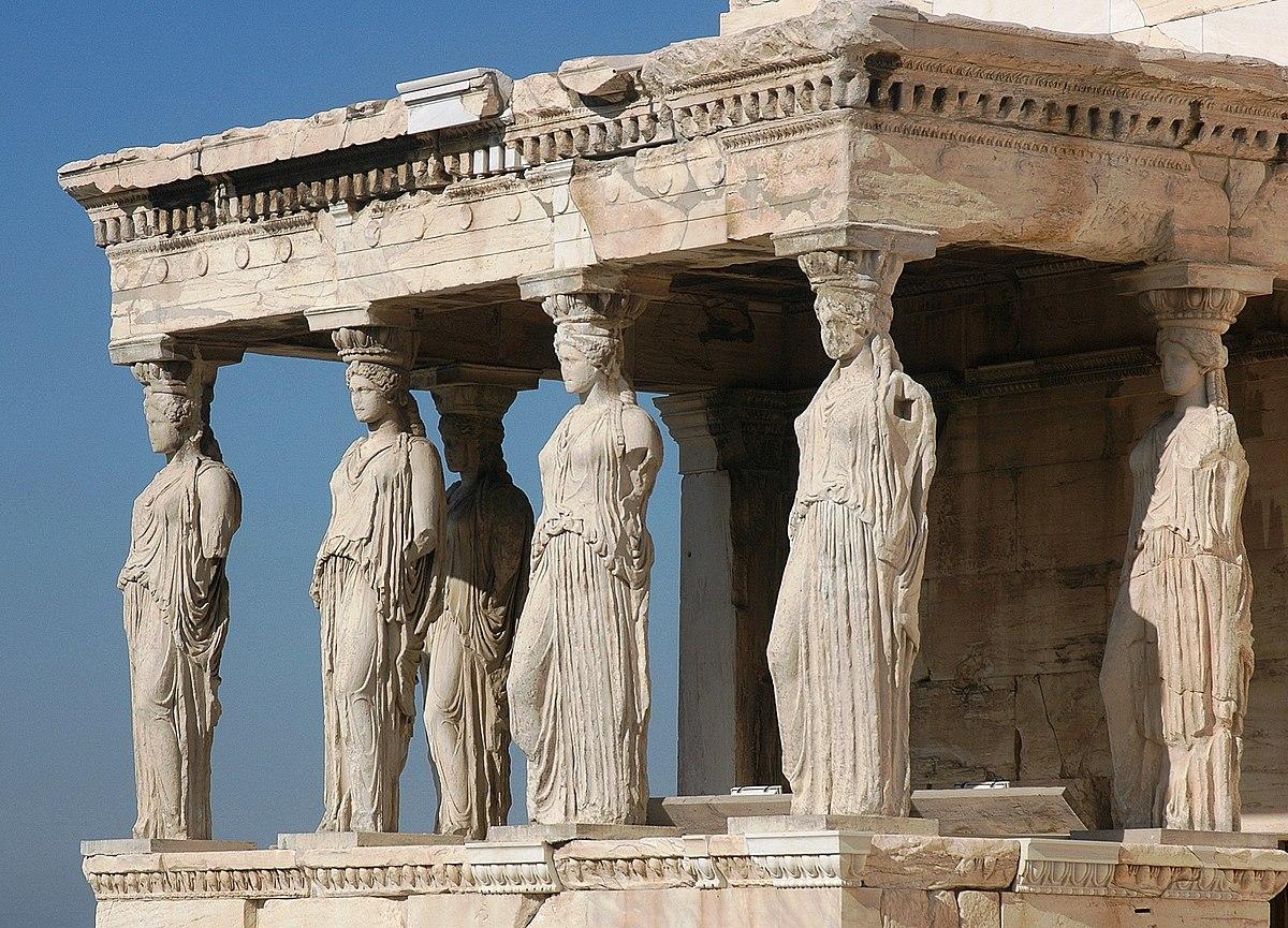 Greek Column Caryatid Caryatis Acropolis Athens Greek Roman Alabaster Statue 9.8