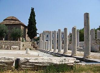 Roman Agora - Ancient columns