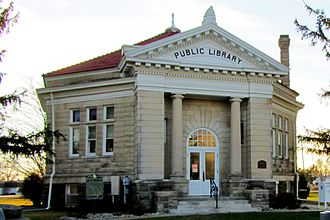 Atlanta, Illinois - The octagon shaped Atlanta Public Library is listed on the National Register of Historic Places