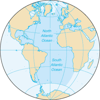 Atlantic Ocean Ocean between Europe, Africa and the Americas