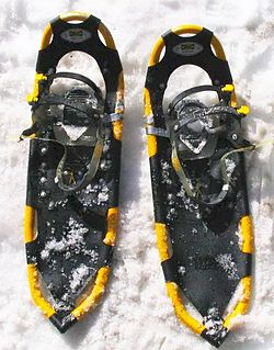 Snowshoe Footwear for walking easily across snow