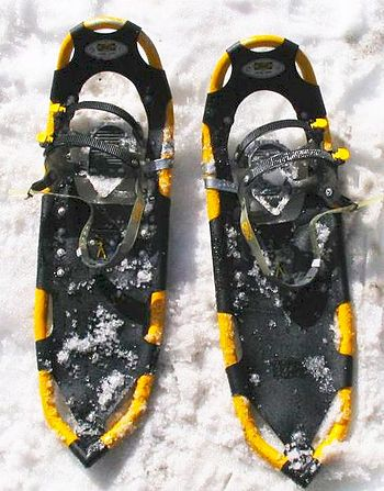 A pair of modern snowshoes Atlas snowshoes.jpg
