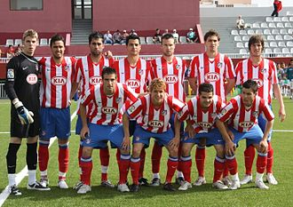 Atlético Madrid B - Atlético Madrid B before a game in 2009