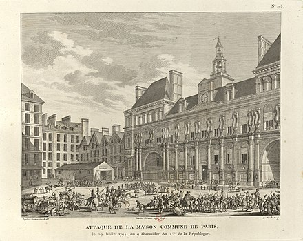 Hotel de Ville, Paris, on 9 Thermidor Attaque de la maison commune de Paris.jpg