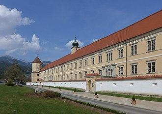 Seckau Abbey - Image: Außenansicht der Abtei Seckau 2