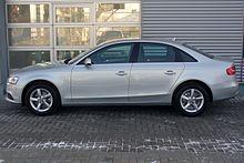 Audi A4 B8 Facelift Limousine Ambiente 1.8 TFSI multitronic Eissilber Seite.JPG
