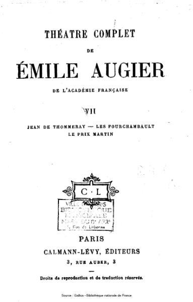 File:Augier - Théatre complet, tome 7.djvu