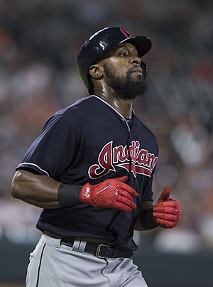 Austin Jackson - Jackson playing for the Cleveland Indians in 2017