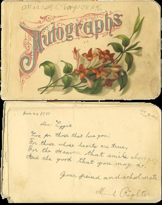 Autograph book - 1888 autograph book