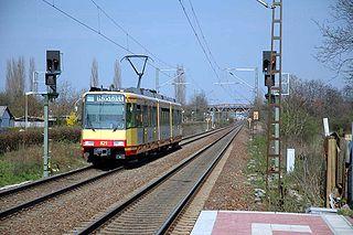 Baden main line railway line