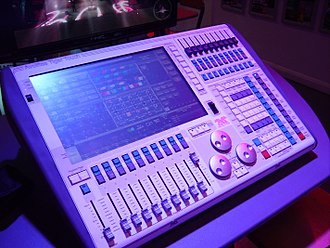 Lighting control console - A Tiger Touch lighting control console made by Avolites Ltd