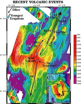 Axial Seamount - Image: Axial Seamount bathymetry