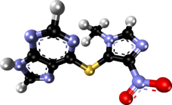 Azathioprine xtal 1984.png