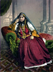 Azeri female wearing traditional clothing, 1900