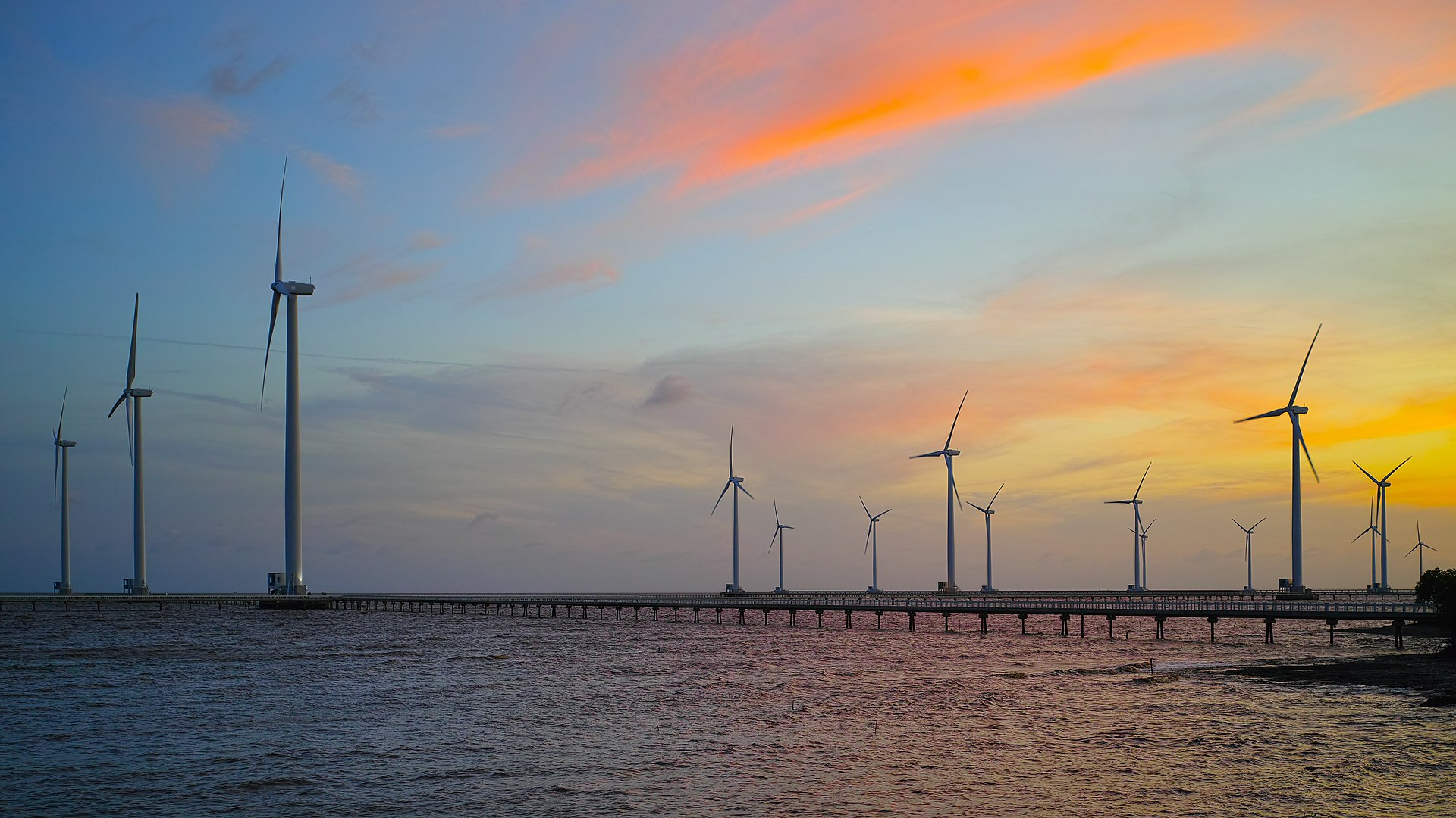 Dự án Điện gió Bạc Liêu. Ảnh Wikipedia