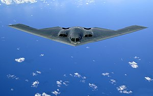 Bomber - An American B-2 Spirit in flight over the Pacific Ocean
