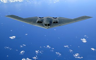 Bomber - A U.S. Air Force B-2 Spirit in flight over the Pacific Ocean