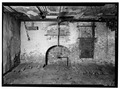 BASEMENT, SOUTH WALL SHOWING BAKE OVEN - 136 East Gay Street (Bakery), West Chester, Chester County, PA HABS PA,15-WCHES,2-2.tif