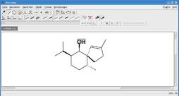 Screenshot von BKChem unter Debian GNU/Linux und KDE