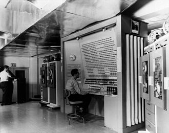 BRLESC - The console of the BRLESC computer (US Army photo)