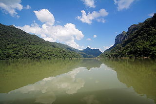 Ba Bể National Park reserve in Bắc Kạn Province, Northeast region of Vietnam