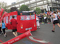 Back of bus - London Marathon 2011 (5630652216).jpg