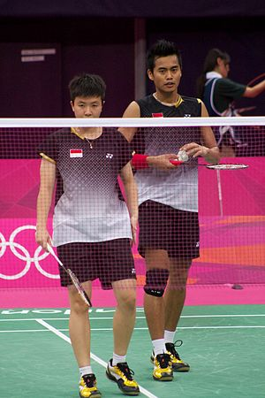 Indonesia national badminton team - Natsir and Ahmad at 2012 Summer Olympics