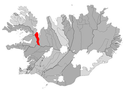 Location of the Municipality of Bæjarhreppur
