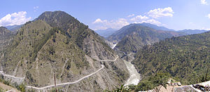 Baglihar Dam across Chenab river in Doba distr...