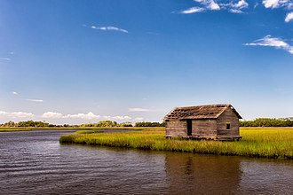 National Register of Historic Places listings in Brunswick County, North Carolina - Image: Bald Head Creek Boat House