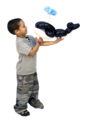 Balloon whale and child example of twisting balloon animals.png